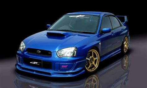 subaru impreza   wrx sti jp vizage add  lip kit