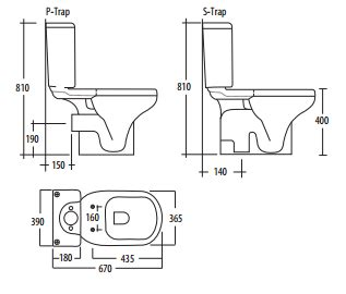 B And P Plumbing by Coupled Rak Liwa Black S Or P Trap Toilet Soft Better Bathrooms
