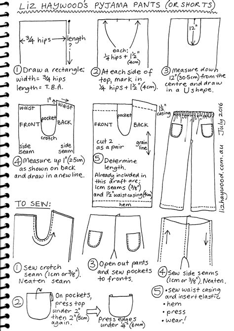 pattern drafting mens jeans free pattern pajama pants or shorts the craft of clothes