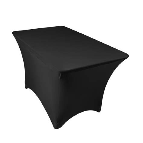 black linen tablecloth linentablecloth 4 ft rectangular stretch tablecloth black
