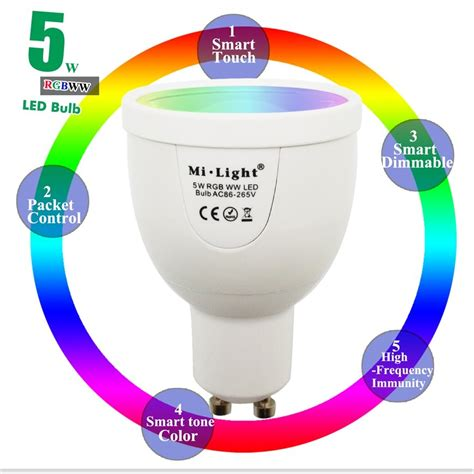 Dimmable Touch Led Light Rgb Base Ld 06s 2016 new arrival 5w gu10 dimmable 2 4g wireless milight led bulb rgbw rgbww led spotlight smart