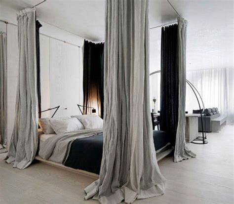 Black Canopy Bed Drapes How To Create Dreamy Bedrooms Using Bed Curtains
