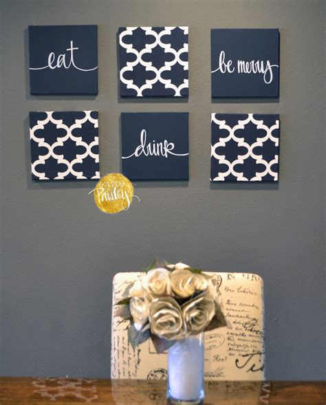 kitchen makeovers canvas painting ideas home decor wall art wall art designs navy blue wall art quotes wall art navy