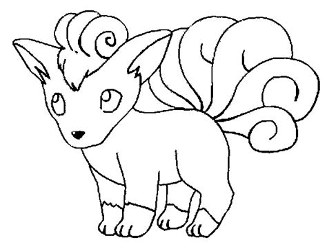 pokemon coloring pages ninetales free coloring pages of vulpix