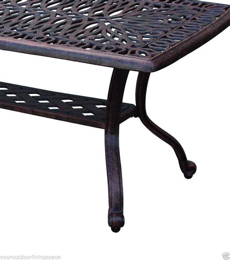 outdoor coffee table cast aluminum patio furniture