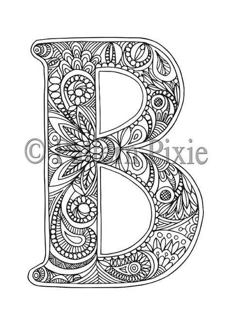 coloring pages for adults letters adult colouring page alphabet letter quot b quot alphabet