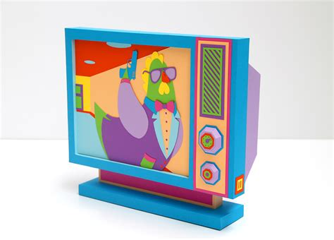 How To Make A Paper Tv - edible monsters on behance