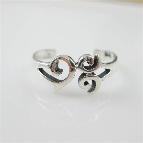 925 sterling silver toe ring whimsical toe ring