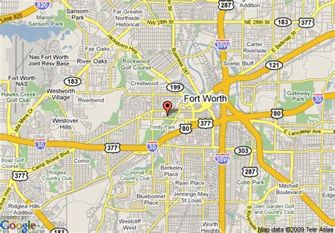 where is fort worth texas on a map map of residence inn by marriott fort worth cultural district fort worth