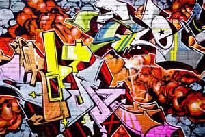 Wall Mural Graffiti wall mural street graffiti photo wallpaper orange happywall