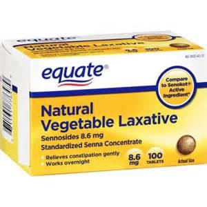 equate sennosides 8 6 vegetable laxative 100 ct