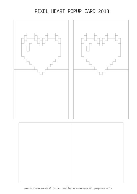 3d pixel card template varietats pop up pixel card by minieco