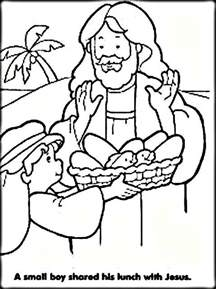 coloring pages for jesus feeding the 5000 jesus feeds 5000 coloring pages for color zini