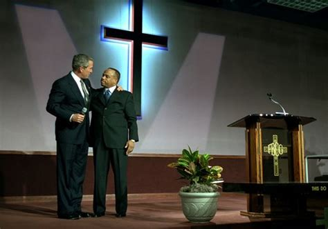 pastor reyes there s still president bush honors martin luther king junior in church