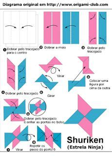 How To Make Shuriken Out Of Paper - 11 best images about origami on