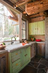 Cabin Style Kitchen Cabinets Collection Of Rustic Kitchens Town Country Living