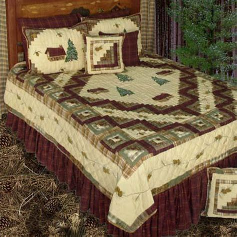 Log Cabin Comforters by Forest Log Cabin Bedding Ensemble