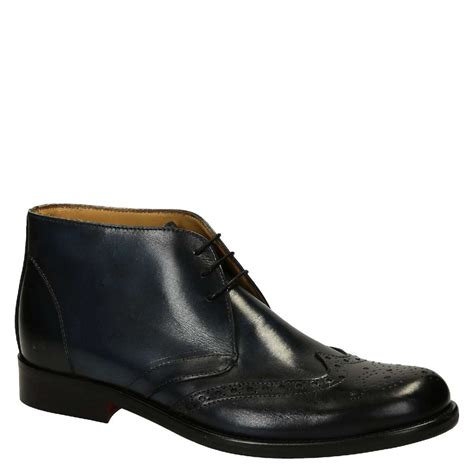 blue calf leather s wingtip dress boots
