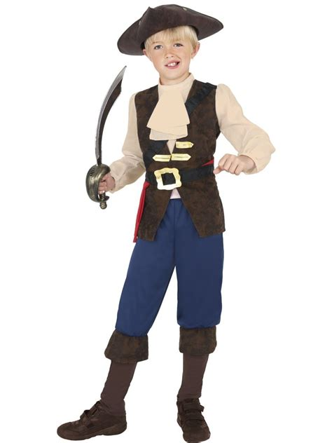 boys pirate costume toddler buccaneer caribbean pirate captain fancy dress costume book