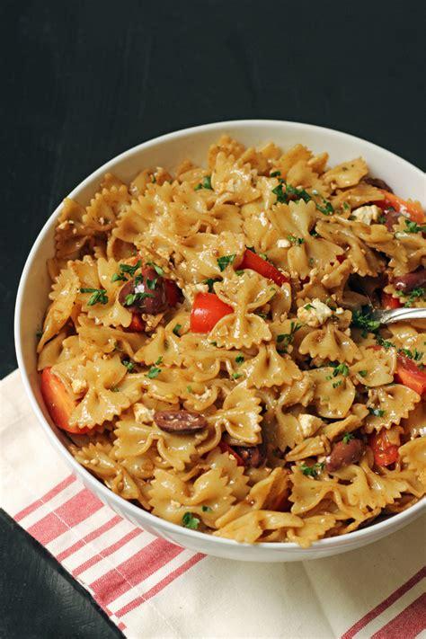 pasta salad with feta tomatoes kalamata olives good cheap eats