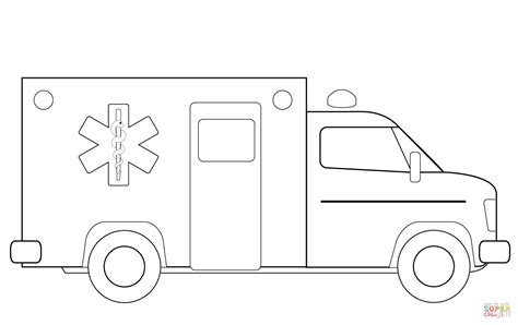 ambulance coloring page free ambulance truck coloring page free printable coloring pages