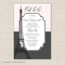 baby shower invitation eiffel tower themed baby