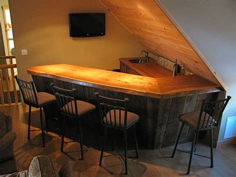 Rustic Wood Bar Tops Custom Made Rustic Bar By Custom Rustic Furniture By Don