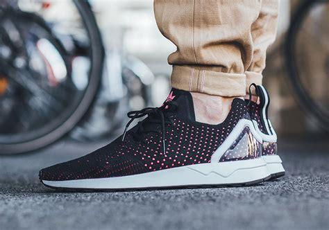 adidas zx flux primeknit adidas zx flux adv primeknit black pink sneaker bar detroit