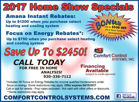 controlled comfort heating and cooling amana gas furnace sales and installation in green bay wi