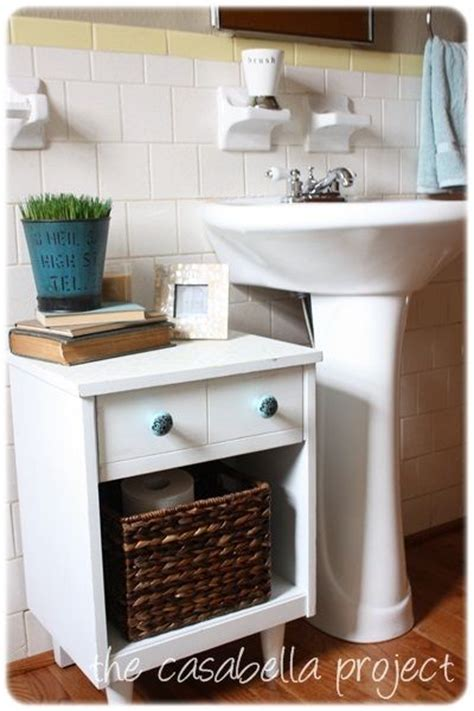 pedestal sink with counter space 25 b 228 sta narrow bathroom storage id 233 erna p 229 pinterest