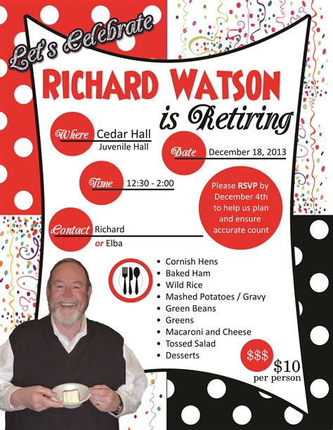 free templates for invitation flyers best photos of retirement party flyer template free