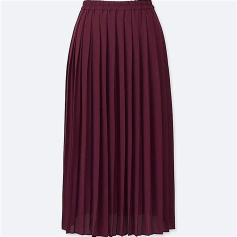 Pleated Chiffon Skirt high waist chiffon pleated midi skirt uniqlo us