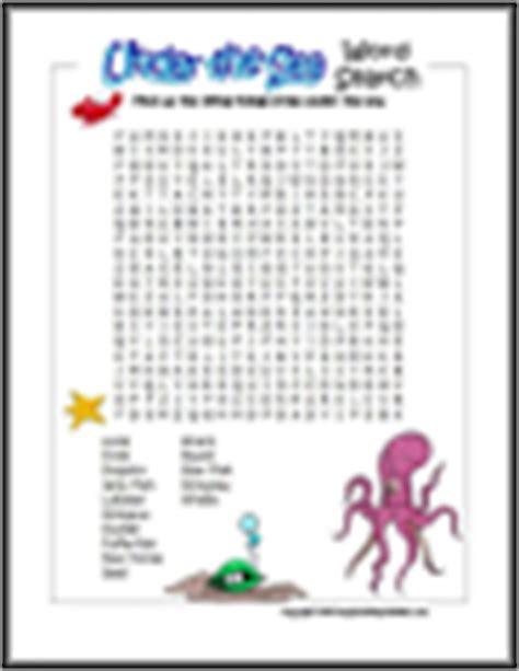 printable under the sea word search ocean animal printables