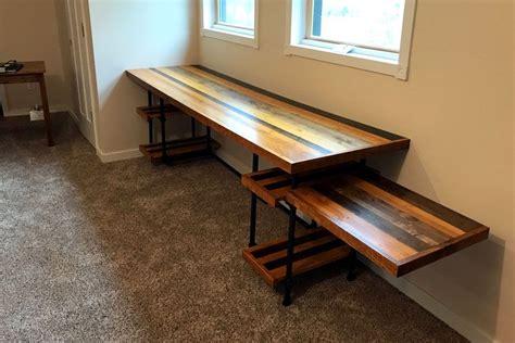 pipe desk diy diy industrial pipe desk with adjustable shelves simplified building