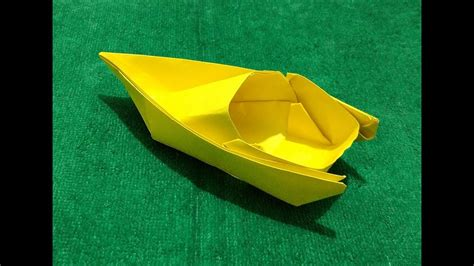 how to make a paper speed boat video origami speed boat how to make origami paper speed boat