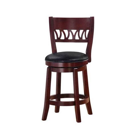 Cherry Finish Counter Stools by Shop Cherry Finish 24 Inch Swivel Counter Stool