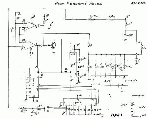 resistor tester circuit high resistance indicator del50004