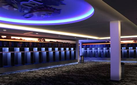 best college baseball locker rooms kansas builds class football locker room including supersized tv coach and athletic