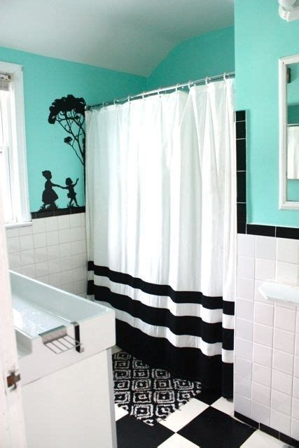 Teal And White Bathroom Teal Black And White Bathroom
