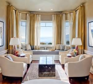 Curtains For Bay Windows In Living Room Decor Window Seat Chic Way To Enhance Your Livign Room Interior Design