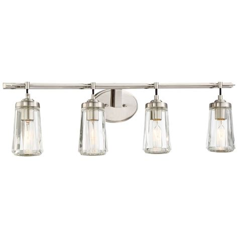 Brushed Nickel Bathroom Lights Minka Poleis Brushed Nickel Bathroom Light 2304 84 Destination Lighting