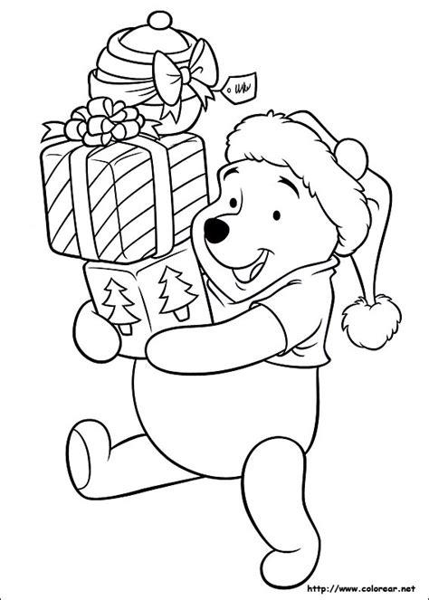 imagen de winnie pooh de navidad para colorear imagenes dibujos para colorear de amigos en navidad