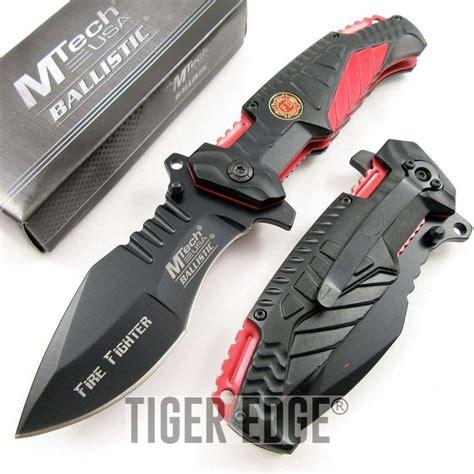 firefighter knives for sale assisted folding pocket knife mtech black