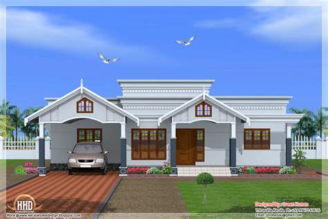 4 Room House 4 Bedroom Single Floor Kerala House Plan Kerala Home