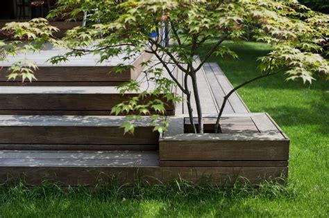 indbygget plantekumme i terrassen det indbyggede japanske