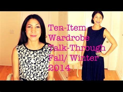 Ten Item Wardrobe - ten item wardrobe talk through fall winter 2014