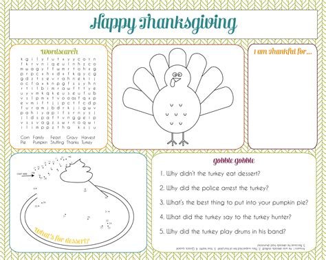 thanksgiving coloring placemats thanksgiving activity for thanksgiving activity
