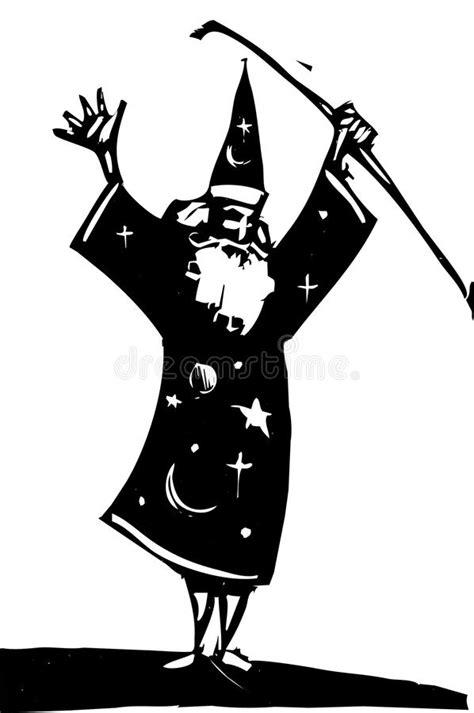 Estudo 4 do feiticeiro ilustração stock. Ilustração de
