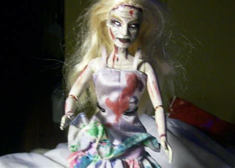 barbie xanax film horror poseable zombie doll halloween ooak custom repaint remake