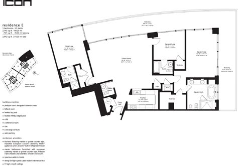 icon south beach floor plans miamiresidence apartments for sale miamibch property
